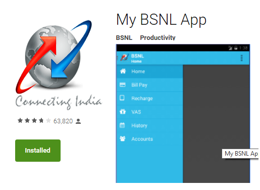Recharge your friend's BSNL prepaid number through My BSNL App and get 4% discount till 30th September 2020