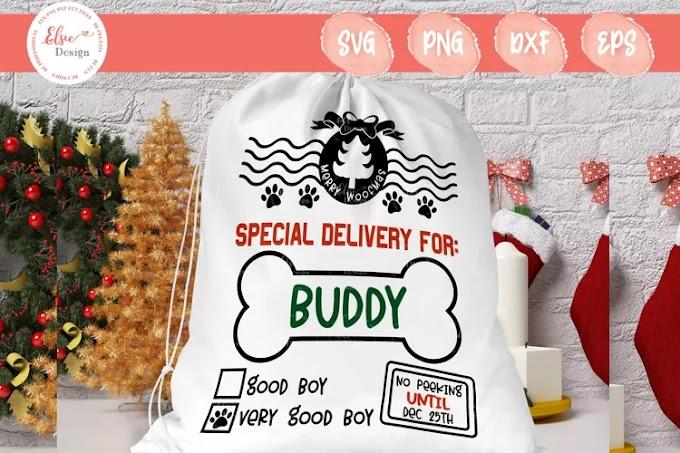 Dog Boy Santa Sack SVG Cut Files