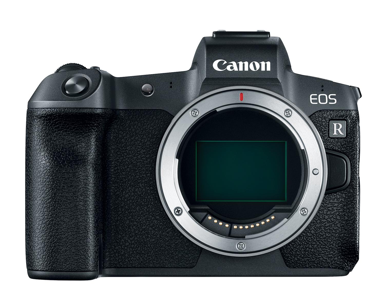 Фотоаппарат Canon EOS R, вид спереди