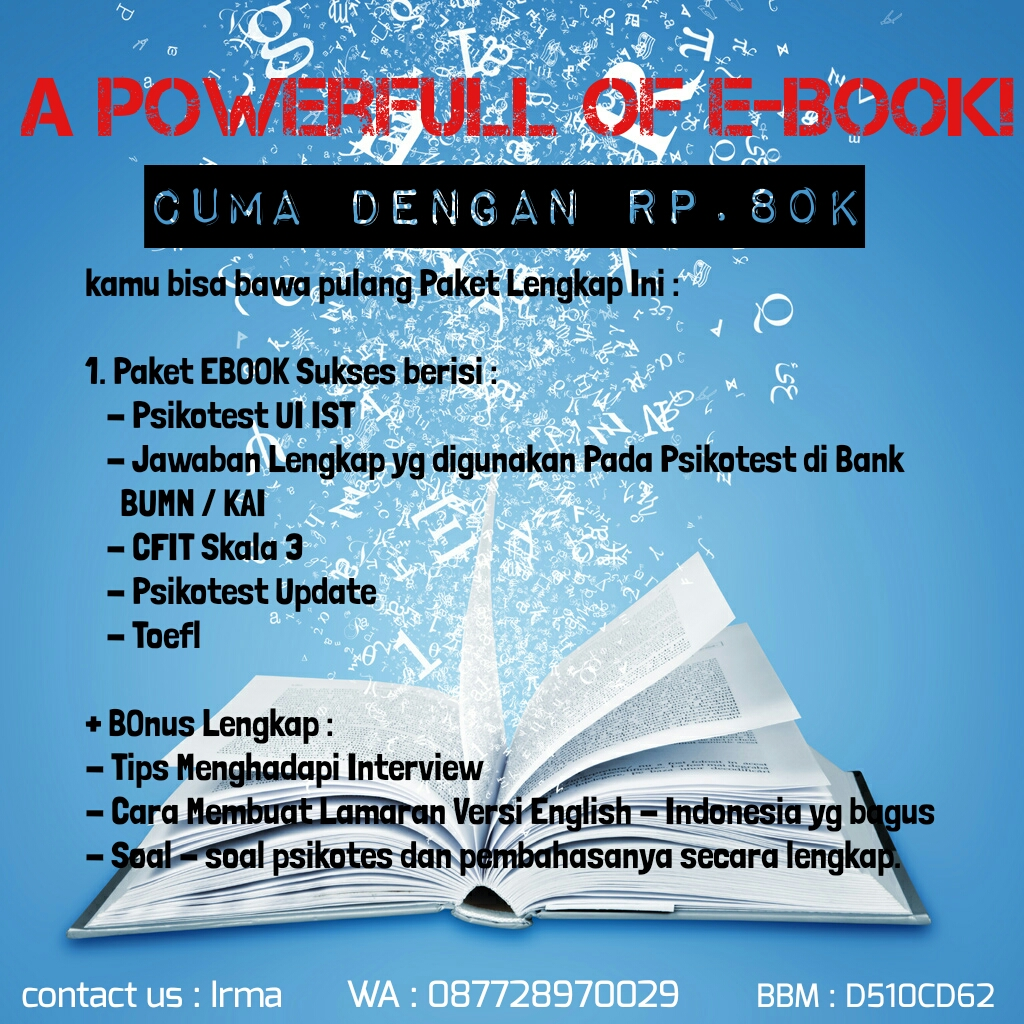 E-Book Psikotes dan Tips and Trick Terlengkap