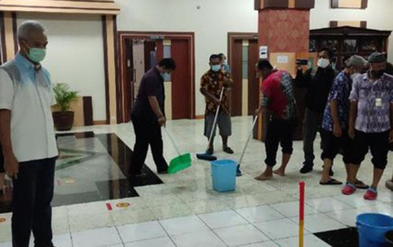 kantor gubernur jateng kebanjiran