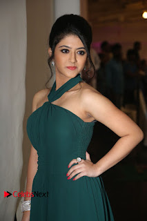 Actress Shriya Sharma Pictures in Long Dress at Nirmala Convent Audio Launch 0100
