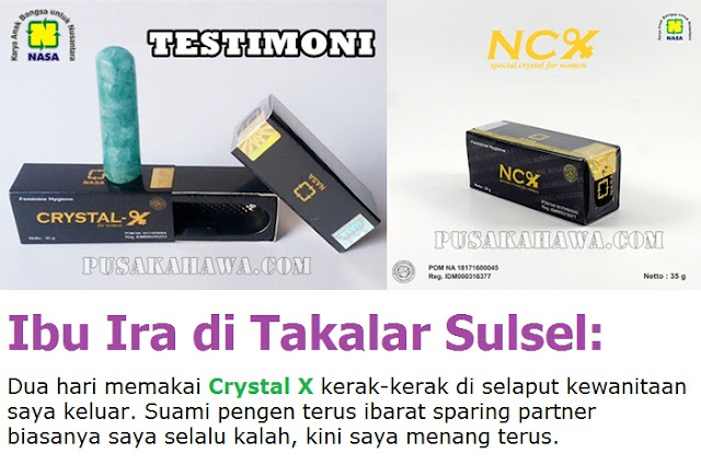 NCX NASA mengatasi keputihan herbal Crystal X testimoni