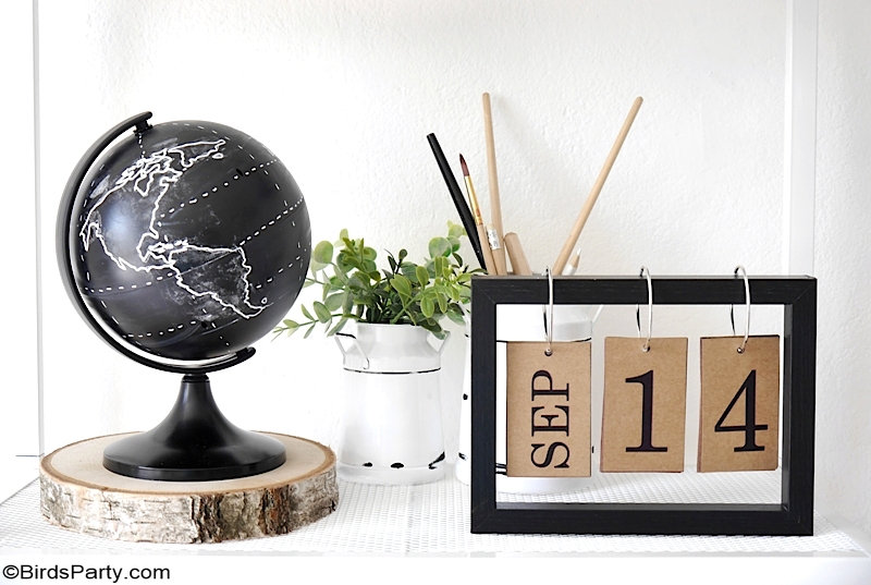 DIY Farmhouse Office Decor Projects + New Printables - easy, cheap and high-end looking handmade decor for your workspace, work desk or home office! by BirdsParty;com @birdsparty #diy #farmhouse #farmhouseoffice #diyofficedecor #farmhouseofficedecor #dollartree #recycling #farmhouseofficediy #diyofficedecor