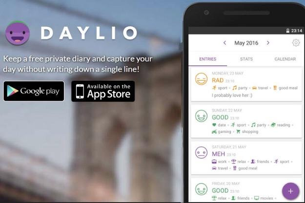 Daylio - Μία δωρεάν εφαρμογή ημερολογίου που θα βελτιώσει την διάθεσή σας