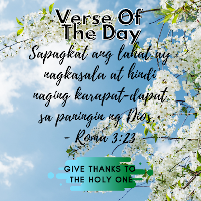 Bible Verse Of The Day Tagalog  September 26 2020  Give Thanks To The Holy One Photo