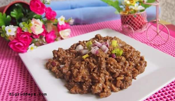 homemade sisig - Bacolod eats - food - homecooking - family - Bacolod blogger - Ginger Lime chicken sisig