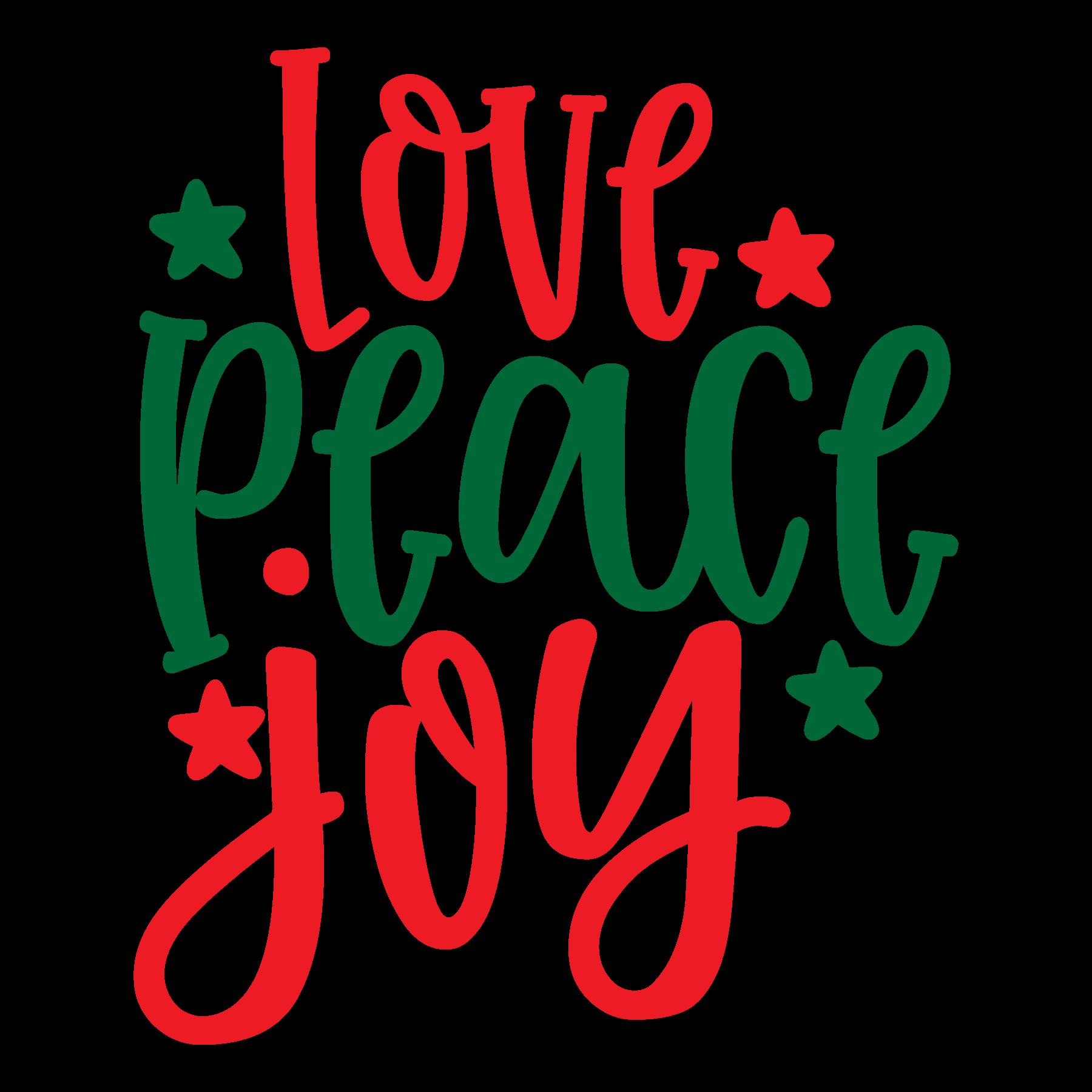 Love Peace Joy SVG Cut Files