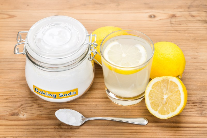 lemon, baking soda