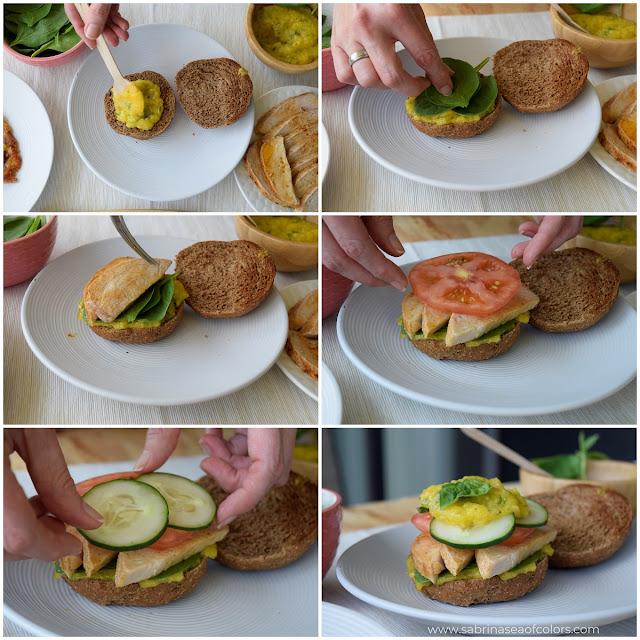 Montando sándwich de lomo