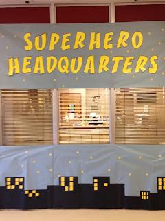 Teacher Appreciation Week Superhero Decorations
