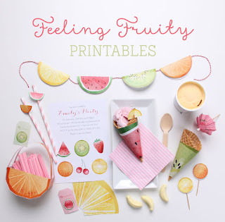 free fruit party printables