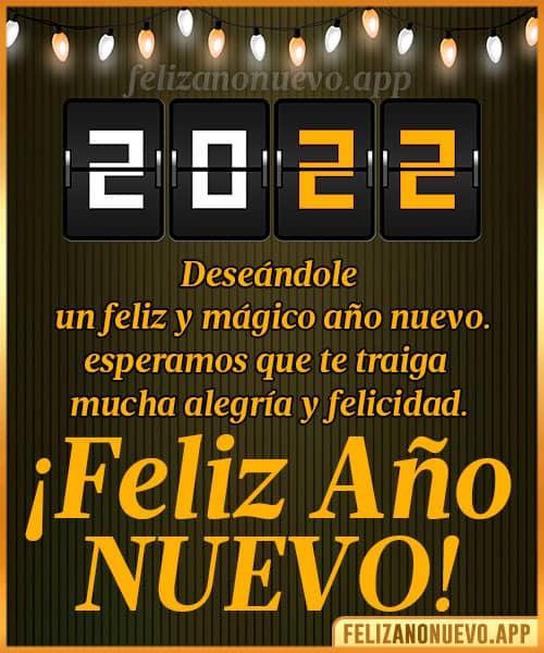 mensajes de feliz año nuevo 2022