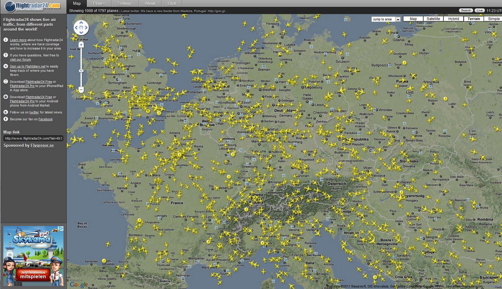 Flightradar24 Live Den Flugverkehr Fast Weltweit Beobachten