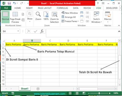 Membuat Judul Tabel Excel Tidak Bergerak Saat Di Scrool Dengan Fitur Frezee