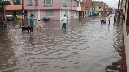 Inundación en Borde Sur de Facatativá