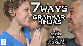 You might not have heard of the Grammar Ninjas yet, but they've heard of you. And they've been watching you. Cause they're ninjas. Today, we're gonna talk about 7 Ways the Grammar Ninjas are better than boring grammar.