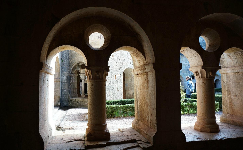 Inner garden of the Thoronet Monastery