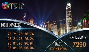Prediksi Angka Togel Hongkong Rabu 17 Oktober 2018