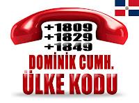 +1 809, +1 829 ve +1 849 Dominik Cumhuriyeti ülke telefon kodları