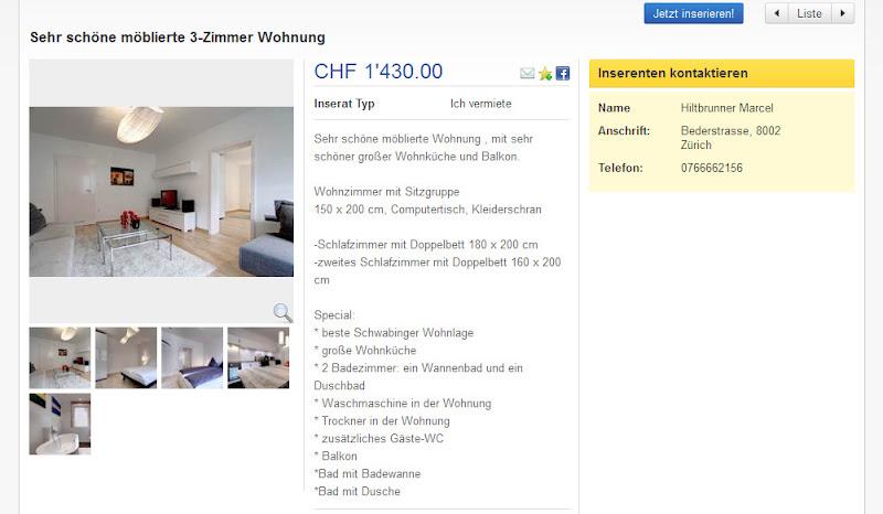 Moblierte Wohnung Mieten