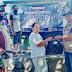 Babinsa Koramil 0910-03/Malinau Kota bersama team relawan bagikan sembako gratis