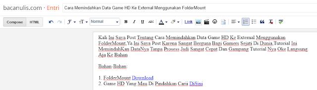 Cara Memindahkan Data Game HD Ke External Menggunakan FolderMount