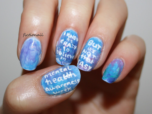 High Hopes Lyrics Kodaline Nails Mental Health Awareness Nail Art