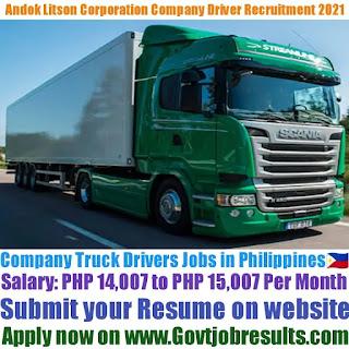 Andok Litson Corporation Company Truck Driver Recruitment 2021-22