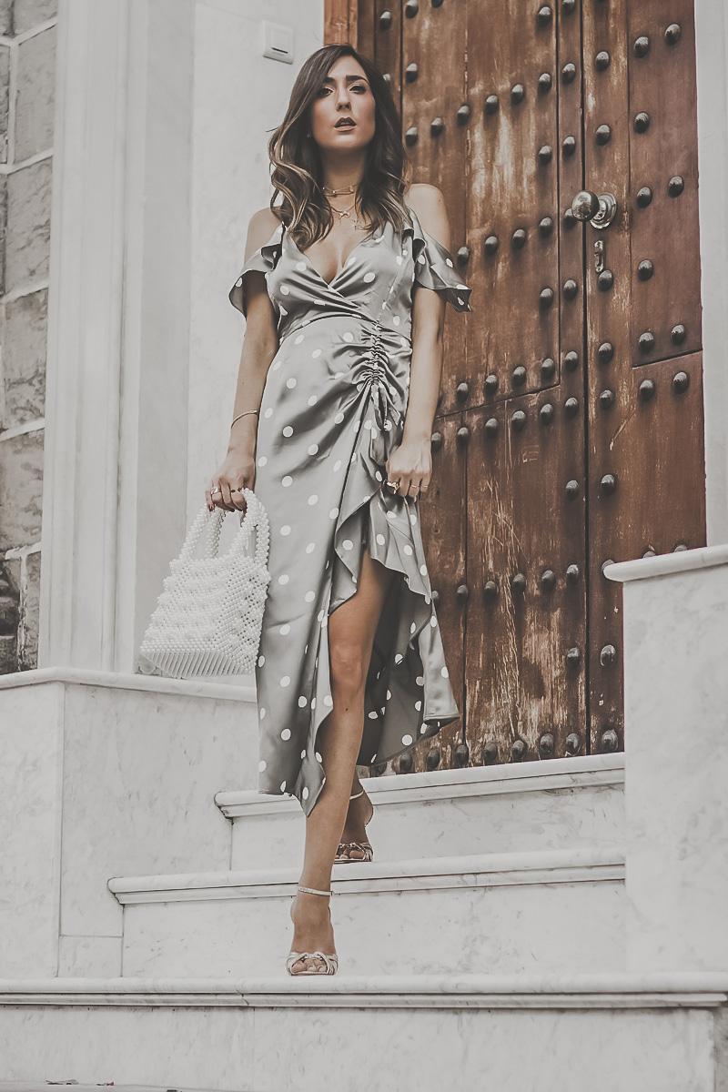 Black Midi Dress With White Shoes
