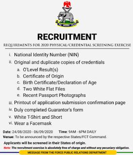 Recruitment Process Commences