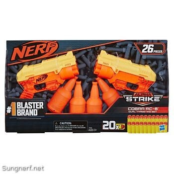 Bộ súng Nerf Alpha Strike Cobra RC-6 Dual Targeting Set