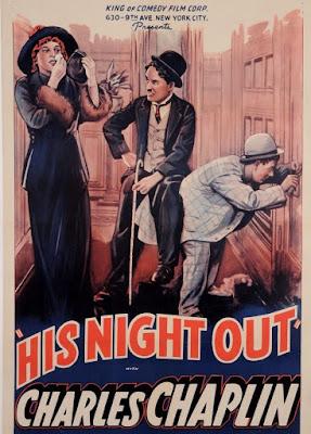 Póster película Charlot se va de juerga - A Night Out