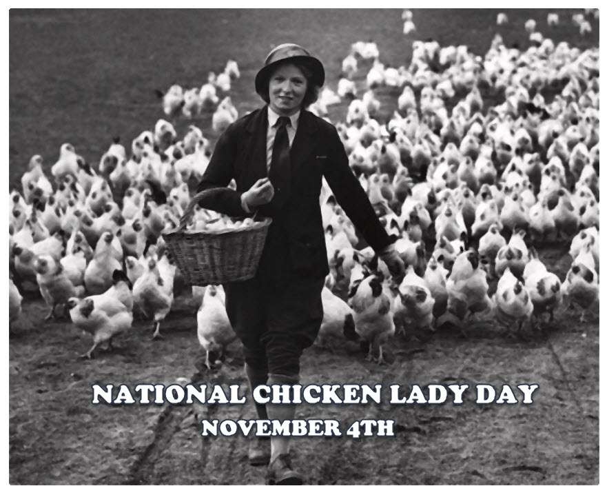 National Chicken Lady Day Wishes Beautiful Image