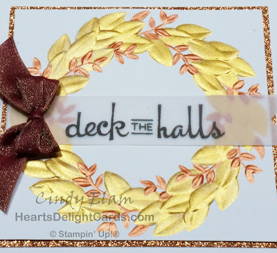 Heart's Delight Cards, Seasonal Wreath, Beautiful Baubles, Stampin' Up!