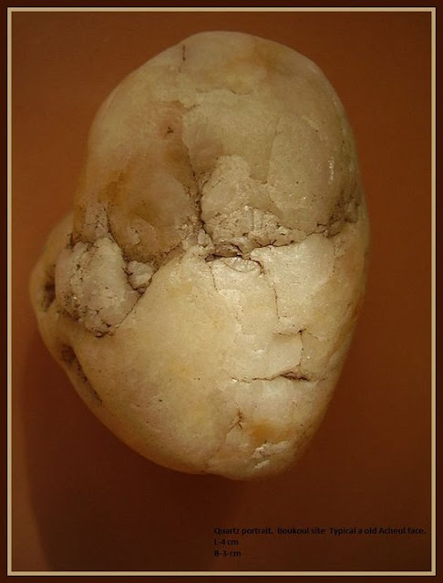 A quartz portrait from the Boukoul site of Jan van Es, The Netherlands