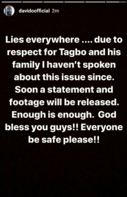 Davido Reacts To Police Claim About His Involvement In Tagbo's Death mp3made.com.ng