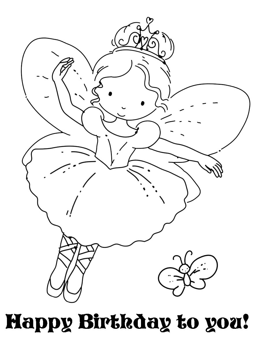 cute fairies coloring pages - photo#43
