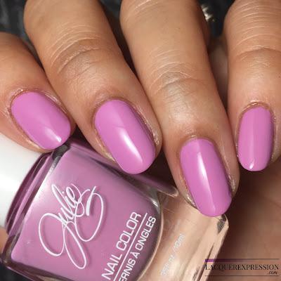 ail polish swatch of Dream in Pretty, a purple creme polish by JulieG