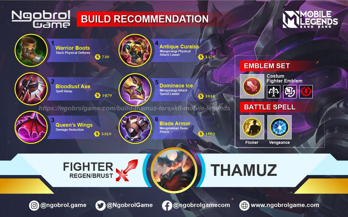 Build Thamuz Tersakit 2021 Mobile Legends