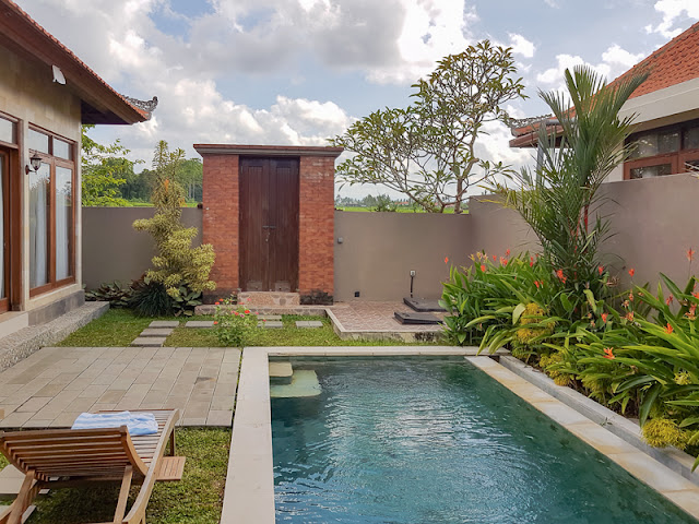 villa with swimming pool and compound in Ubud Bali indonesia