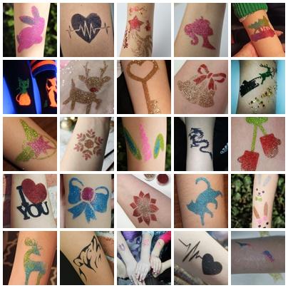 tatuaże brokatowe