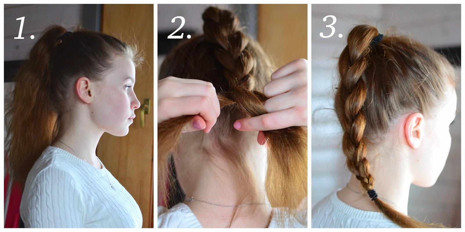 pitkä polkka ohuet hiukset