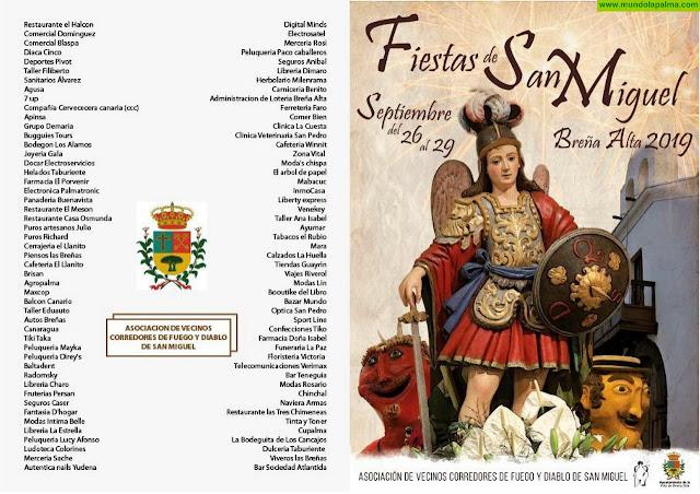 Programa Fiesta San Miguel 2019 en Breña Alta