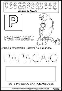 Bichonário desenho de papagaio