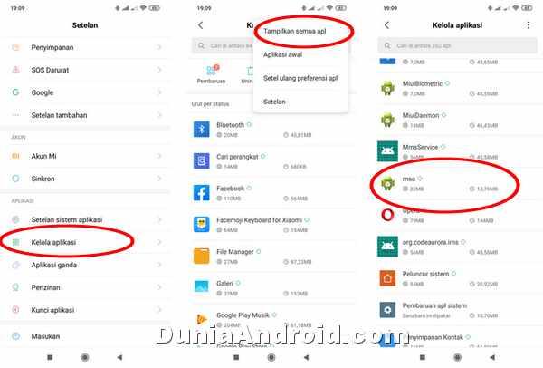 memunculkan MSA di Xiaomi