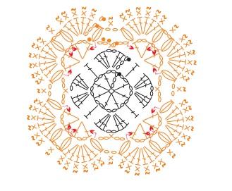 Схема вязания подстаканника
