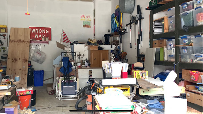 messy garage ready to be organized