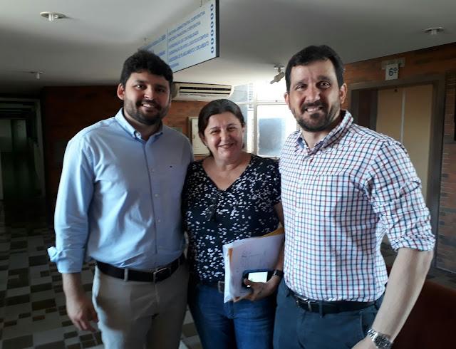 Zé Filho recebe presidente do Conselho Regional de Psicologia