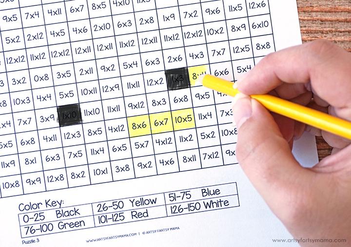 Free Printable Emoji Mystery Multiplication Worksheets